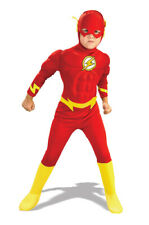Brand New Justice League Deluxe Muscle Chest The Flash Toddler/Child Costume
