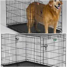 Folding Dog Crate 1 or 2 Door cage kennel portable travel car pet cat steel NEW