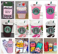 Cute 3D Food Drinks Ice-cream Soft Silicone Back Case For Popular Mobile Phone