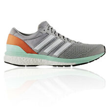Adidas Adizero Boston 6 Womens Grey Running Road Sports Shoes Trainers Pumps