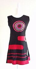 Women Summer Spring Cotton Sleeveless Casual Hippy Boho Handmade Dress