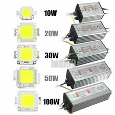 10W/20W/30W/50W/100W High Power Waterproof LED SMD Chip Bulb+LED Driver Suppl GL