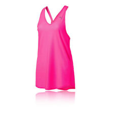 Puma Layered Womens Pink Sleeveless Training Gym Vest Tank Top Singlet