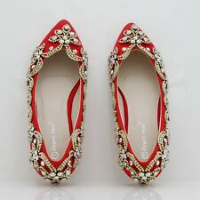 Summer Flat Shoes Ivory Wedding Shoes Rhinestones Handmade Women Flats Bride