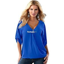 New Loose Women Casual Short Sleeve Sexy Shirt Tops Blouse Ladies Tee Top ES9P01