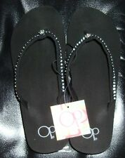 OP OCEAN PACIFIC Womens JEWELED FLIP FLOP SANDALS    SUPER FAST SHIPPING!!!