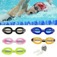 Color Adult Adjustable Summer Swimming Goggles Set Earplugs&Nose Clip Glasses