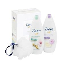 Dove Beauty Pampering Set Contains 2 X 250ML Body Wash | 1 Shower Puff XMAS GIFT