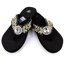 18 Pairs Western Rhinestone Bling Concho Flip Flops in One Box, Multi-Colors
