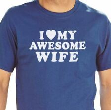I Love My Awesome Wife Men's T-Shirt cool tshirt designs funny tees husband gift