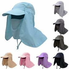 Unisex Fishing Cap Hiking Hat Neck Cover Ear Flap Outdoor UV Sun Protection New