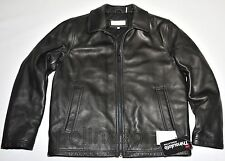 Calvin Klein jacket 100% Genuine Leather Black Bomber coat 3M Thinsulate