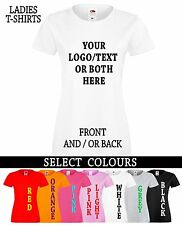 Personalised Printed Ladies T-Shirt,Women's Custom Design Tshirt ,Stag Hen,Party