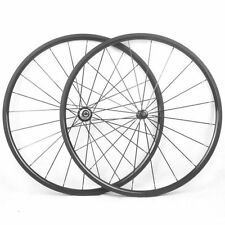 Straight Pull 24mm Clincher Carbon Wheels Carbon Road Bike Racing Wheelset