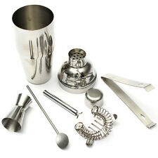 5pcs Stainless Steel Cocktail Shaker Mixer Drink Bartender Martini Tools Bar Set