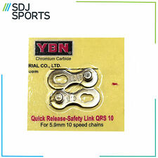 SHIMANO COMPATIBLE 10 SPEED SILVER CHAIN SPLIT LINK BIKE CYCLE BY YBN NEW