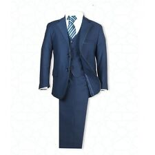 Boys Navy Suit Italian Cut 3 PC or 5 PC Pageboy Wedding Suits Prom Party Suit