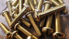 """0BA x 1"""" SOLID BRASS SLOTTED ROUND HEAD BA MACHINE SCREWS MODEL STEAM ELECTRONIC"""