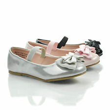 JessieIISQ Infant Girl's Mary-Jane Round Toe Ballet Flats w Bow. New Shoes