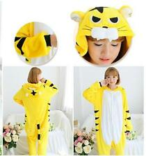 Unisex Adult Pajamas Kigurumi Cosplay Costume Onesie  Tigger Sleepwear Animal