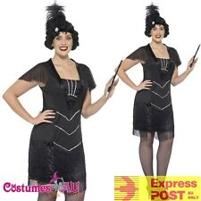 Plus Size 20s Gatsby Flapper Costume Curves Glamour Charleston 1920s Fancy Dress