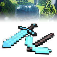 Minecraft Large Blue Diamond Sword Pickaxe axe EVA Weapons Plush Doll 2016 Blue