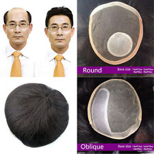 8inch Thick  Men Women Hair Top Piece Toupee Human Clip in Hair extensions