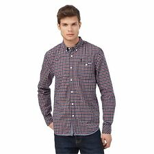 St George By Duffer Mens Navy And Red Checked Shirt From Debenhams