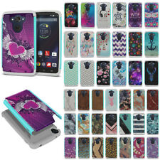 For Motorola Droid Turbo XT1254 Rugged Hybrid Hard Rubber Silicone Case Cover