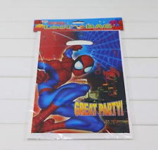 NEW Pack of 6 Spiderman Themed Party Loot Bag Lolly Bags