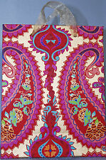Indian Paper Luxury Gift Bags ~ Pink ~ Large Paisley / Floral ~ Medium Size