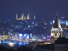 Galata Tower and Blue Mosque (Sultan Ahmet Camii), Sultanahmet, Istanbul, Turkey