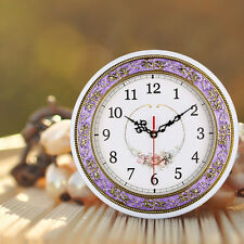 11Inch Antique Floral Wall Clock Creative European Craft Quartz Mute Home Clock