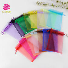 10/50/100pcs Organza Wedding Xmas Party Favor Gift Candy Bags Jewellery pouches