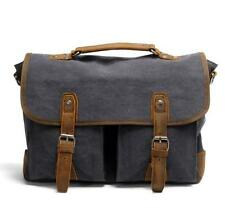 Vintage Men Canvas Leather Shoulder Bag Messenger Bag Laptop Briefcase Tote Bag