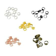 10Pcs Adjustable Rings 15x10mm Blank Base Flat Pad DIY Jewellery Making Craft