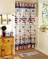 Americana Bathroom Collection Red White and Blue Stars and Stripes Free Shipping