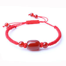 Chinese Hand-woven Red Hand Rope Jade Peace Buckle String Bracelet Adjustable