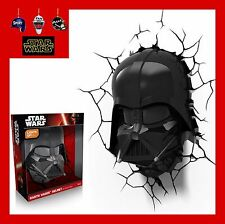 3D FX LED WALL DECO LIGHT-STAR WARS DARTH VADER HELMET/LIGHTSABER