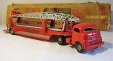 Structo Toys GMC COE Cab Hyd. Hook & Ladder TT Fire Truck No. 765 V RARE 50s MIB