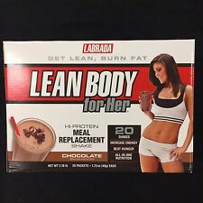 LABRADA LEAN BODY FOR HER 20 PACK MEAL REPLACEMENT POWDER PACKETS ALL FLAVORS