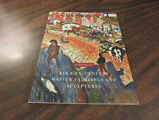 XIX & XX Centruy Master Paintings and Sculptures Acquavella PPB 2004 FREE SHIP