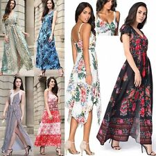 Womens Floral Boho Maxi Evening Prom Party Summer Beach Long Dress Sundress