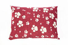 Red Large & X Large Dog Bed With Removable Cover Filled Cushion & PolyPad