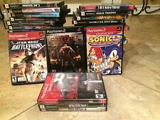 Sony PlayStation 2 LOT - 40 Games (Star Wars, Devil May Cry, Final Fantasy MORE)