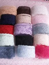Lace Trim, 2 Inches Wide, Assorted Colors, 10 YARDS, Rachel Lace, Flat Lace