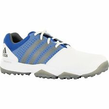 adidas Mens 360 Traxion Spikeless Golf Shoes - Q44722 - White/Blue