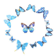 12 Pcs Butterfly Wall Stickers DIY Festive Supply Plastic Art Decal