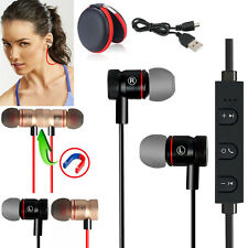 New -MD56 Magnetic Wireless Bluetooth Handsfree Headset Earphone For Cell Phone