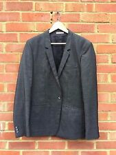 £Mens BNWT ZARA Smart Cotton Blazer Jacket - Grey EUR 54 USA 44 MEX 44 RRP £139